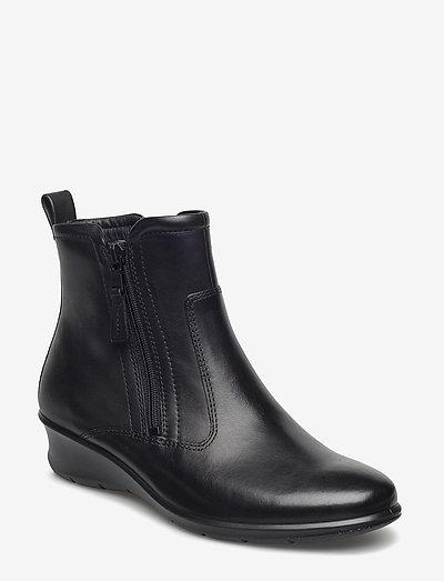 FELICIA - flade ankelstøvler - black
