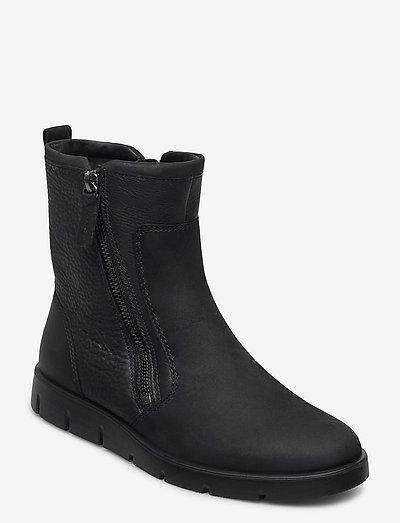 BELLA - flade ankelstøvler - black/black