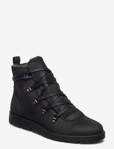 BELLA - flade ankelstøvler - black