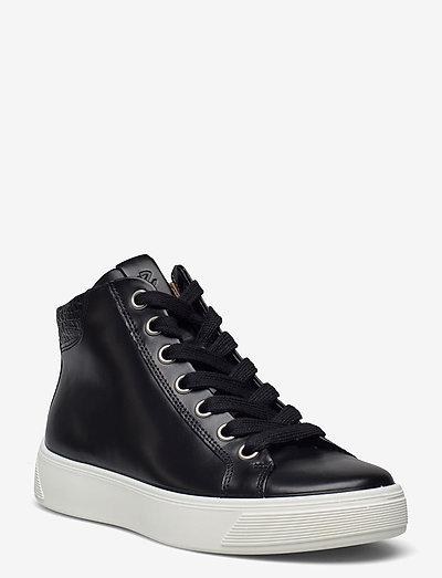 STREET TRAY W - høje sneakers - black/black
