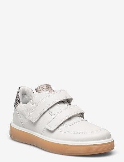 STREET TRAY K - låga sneakers - white/limestoneblack