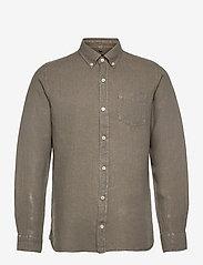 ECOALF - MALIBU SHIRT MAN - geruite overhemden - khaki - 0
