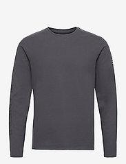 ECOALF - NANKIN LONG SLEEVE T-SHIRT MAN - t-shirts basiques - caviar - 0