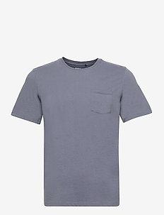 AVANDARO T-SHIRT MAN - basic t-shirts - grey blue