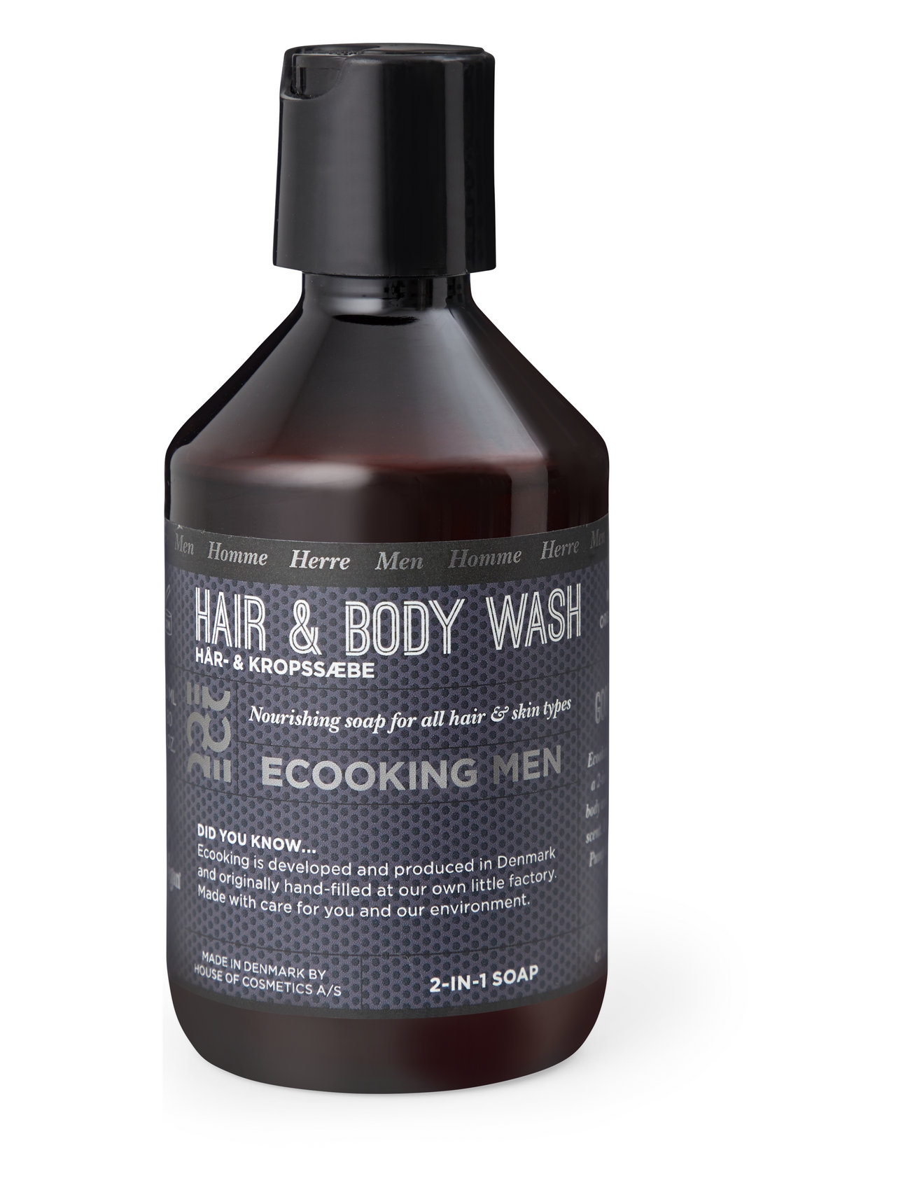 Ecooking Men Hair & Body soap, 250 ml - CLEAR
