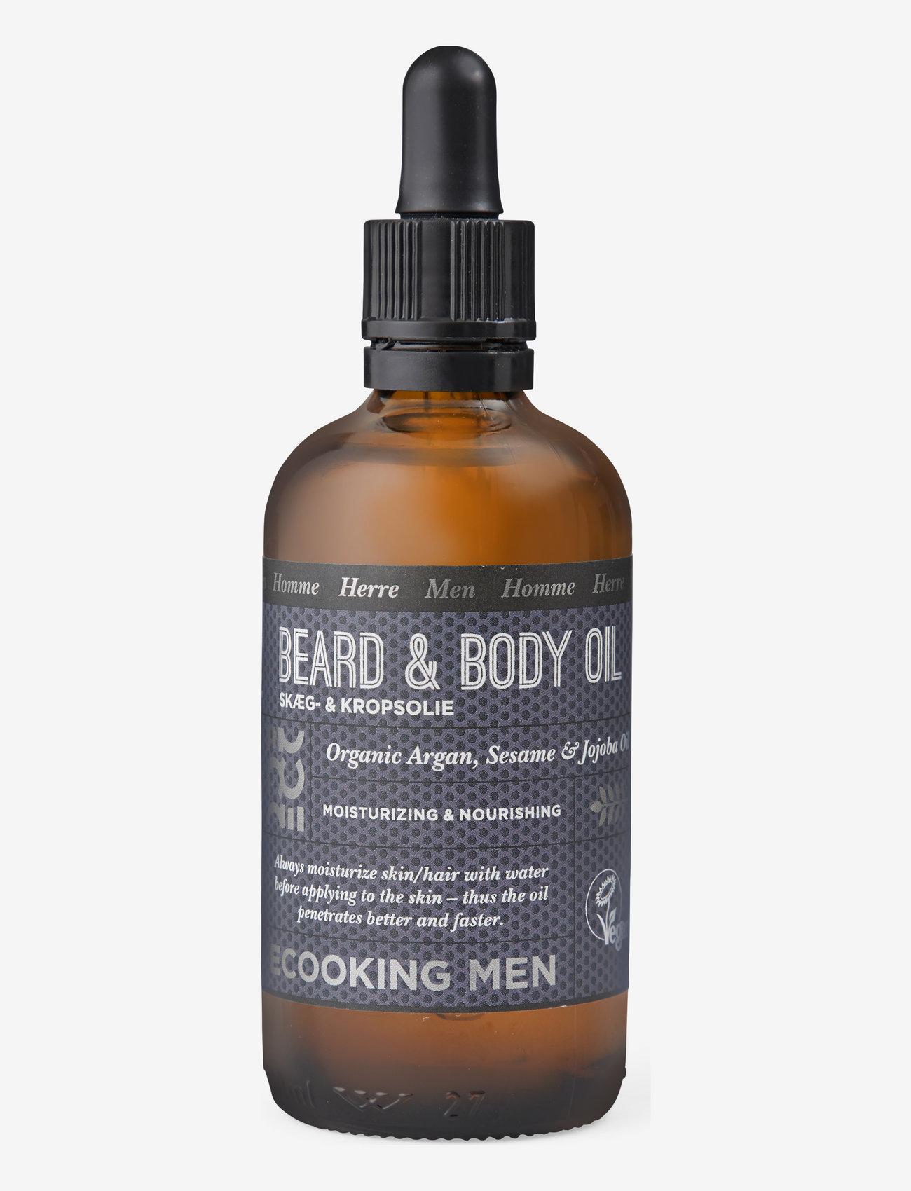 Ecooking - Men Beard & Body oil, 100 ml - skægolie - clear - 0