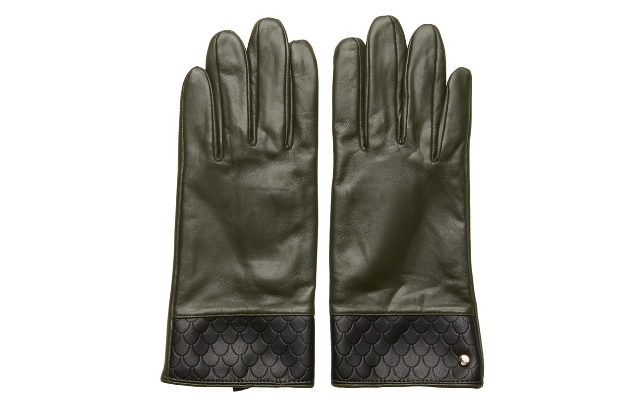 Edblad Tiles Leather Glove Forest - FOREST