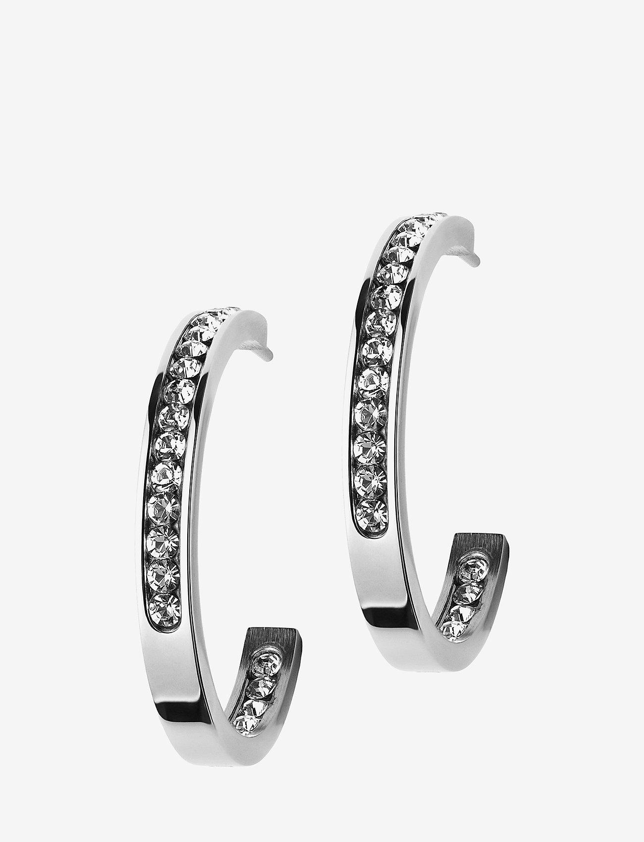 Edblad - Andorra Earrings Small Steel - hoops - steel