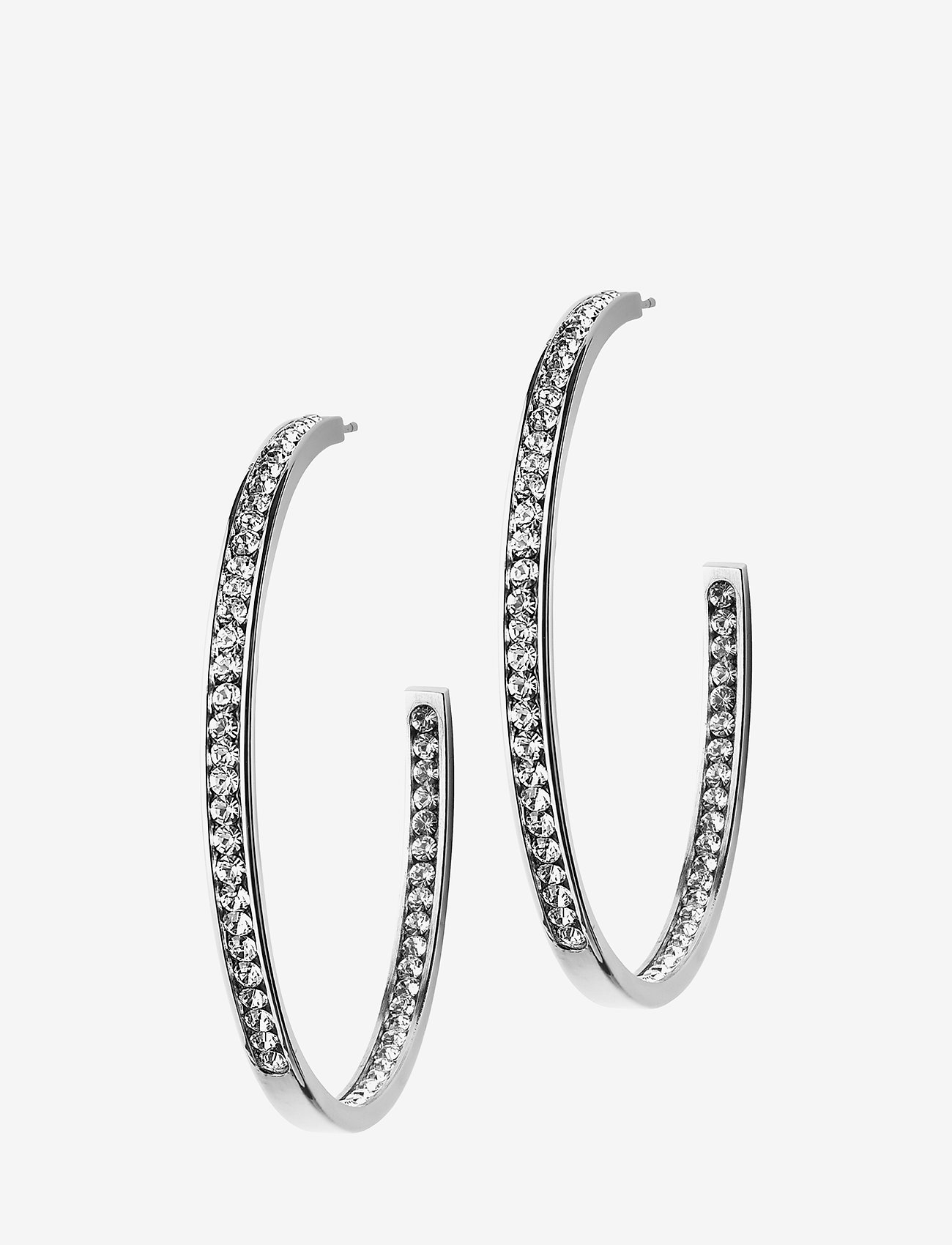 Edblad - Andorra Earrings Large Steel - hoops - steel
