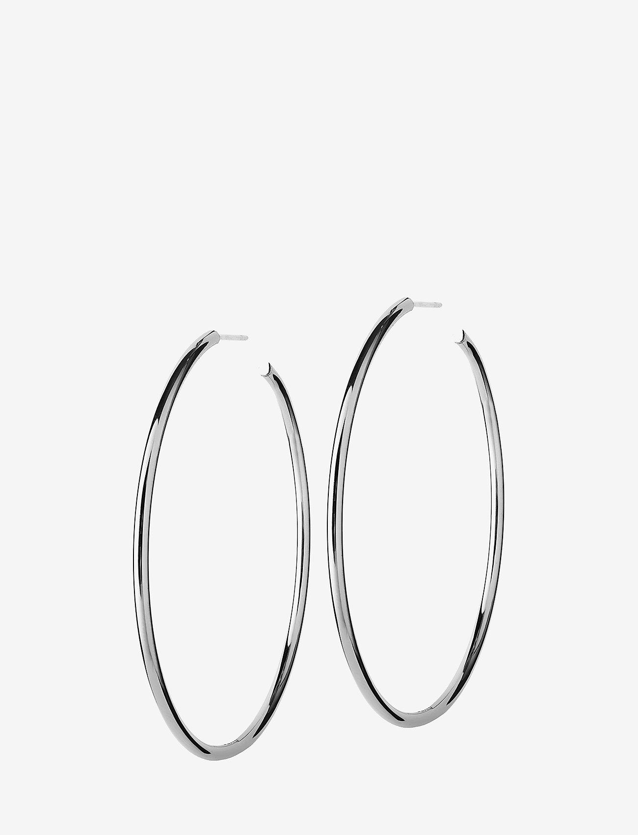Edblad - Hoops Earrings Steel Large - hoops - steel
