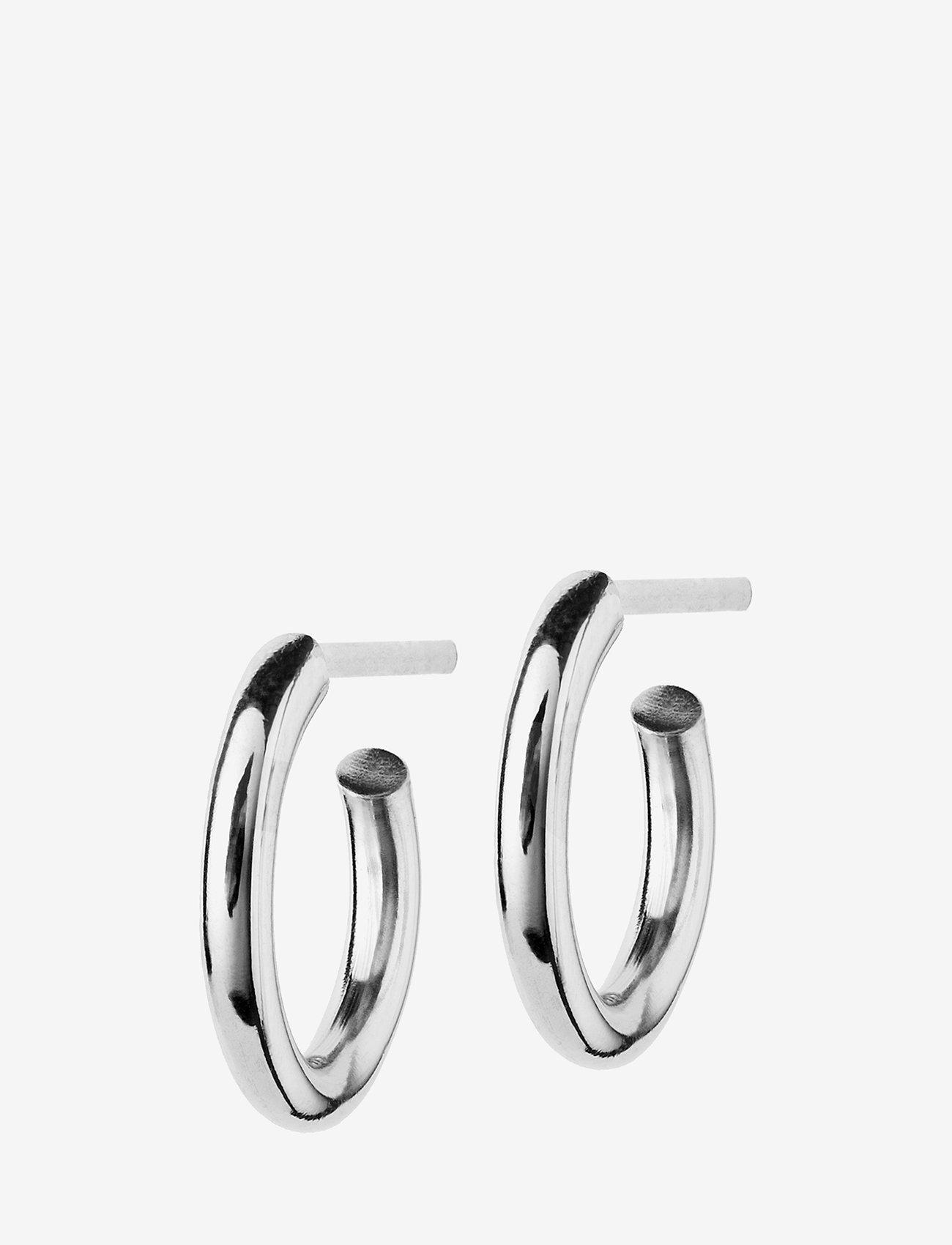 Edblad - Hoops Earrings Steel Small - studs - steel