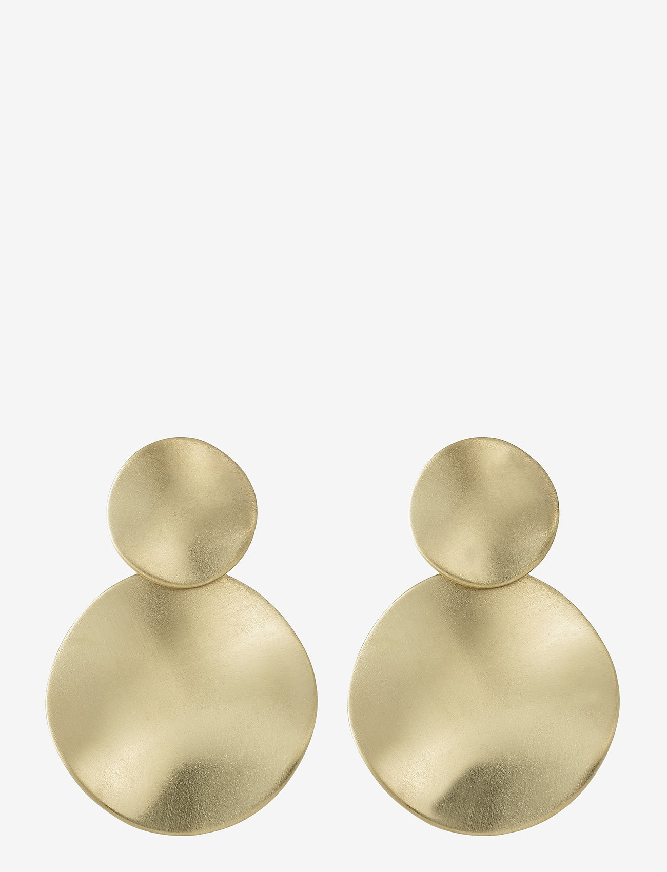 Edblad - Elsa Earrings Matt - oorhangers - gold - 0