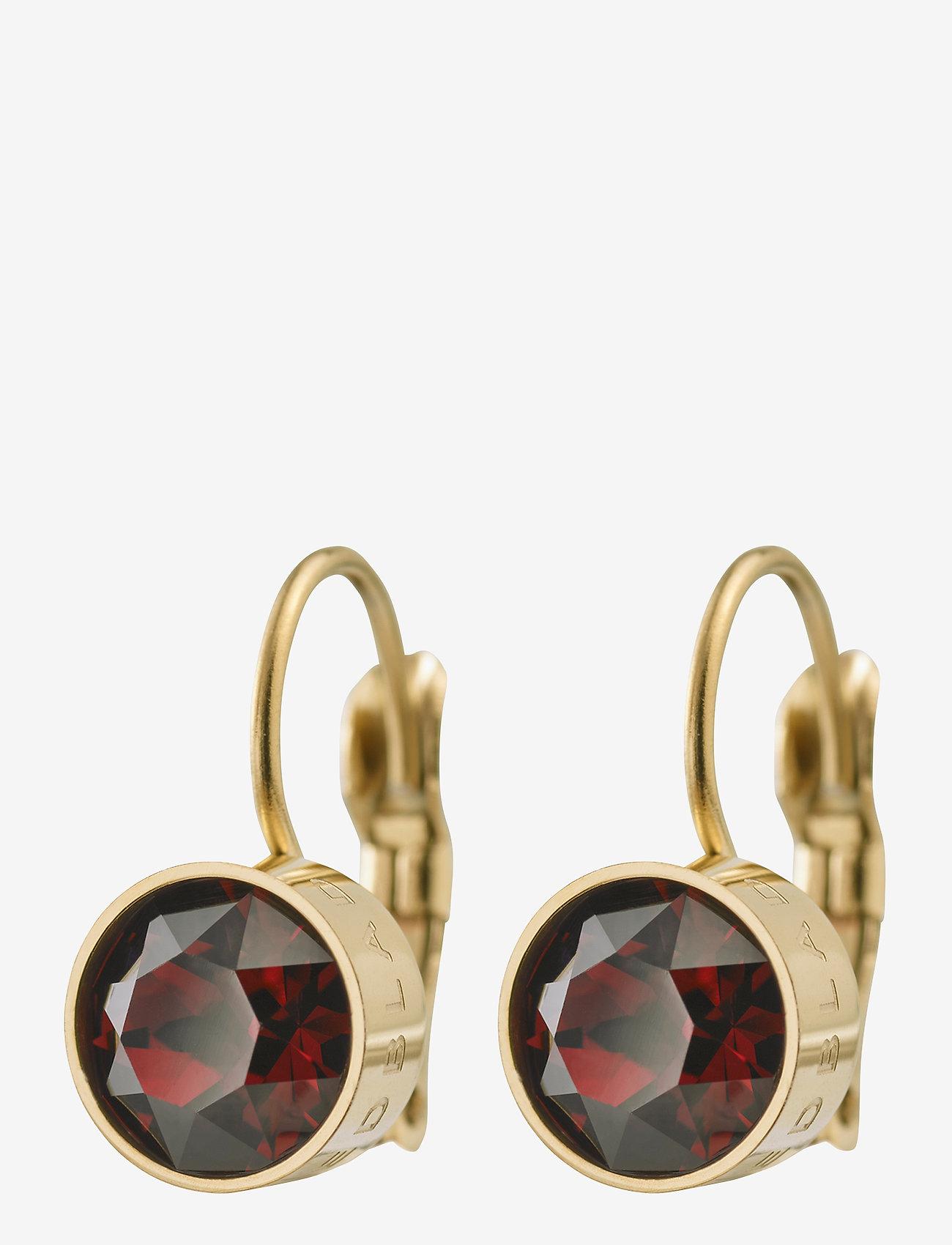 Edblad - Diana Earrings Plum - stud oorbellen - gold - 0