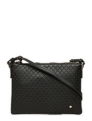 Irene Small Bag Tiles Embossed Black - BLACK