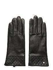 Tiles Leather Glove Black - BLACK