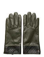 Tiles Leather Glove Forest - FOREST