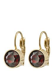 Diana Earrings Plum - GOLD