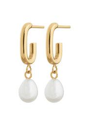 Trellis Pearl Earrings - GOLD