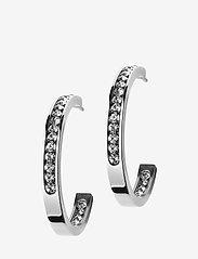 Edblad - Andorra Earrings Small Steel - hoops - steel - 0
