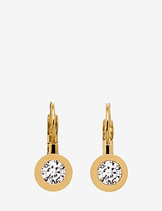 Stella Earrings - pendant - gold