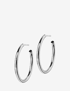Hoops Earrings Steel Medium - hoops - steel