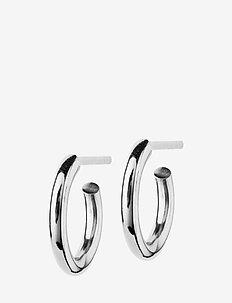 Hoops Earrings Steel Small - studs - steel