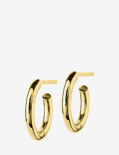Hoops Earrings Gold Small - Ørestikker - gold