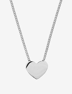 Pure Heart Necklace Steel - dainty necklaces - steel