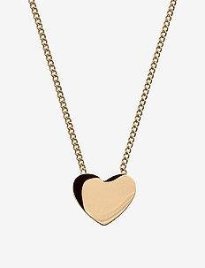 Pure Heart Necklace Gold - små halskjeder - gold
