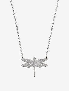 Dragonfly Necklace Sparkle Steel - STEEL