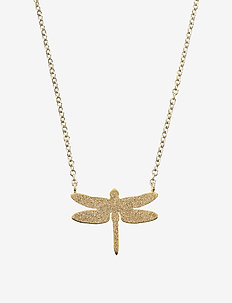 Dragonfly Necklace Sparkle Gold - GOLD