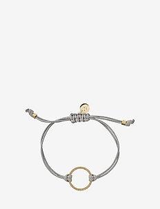 Circle Cord Bracelet Grey/Gold - GOLD