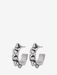 Peak Creole Earrings - STEEL