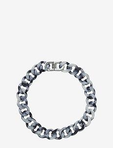 Malibu Necklace Black Steel - statement necklaces - steel