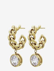 Lourdes cz Creole Earrings Gold - GOLD