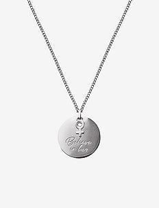Believe In Her Necklace Steel - dainty necklaces - steel