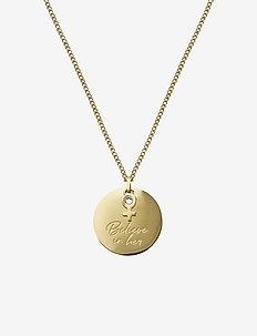 Believe In Her Necklace Gold - GOLD