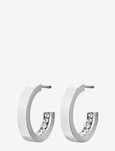 Monaco Earrings Mini - korvarenkaat - steel