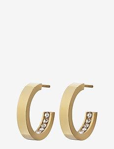 Monaco Earrings Mini - hoops - gold