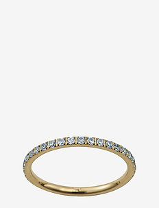 Glow Ring Micro Pool Blue Gold - ringen - gold