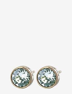 Diana Studs Pool Blue Crystal Gold - studs - gold