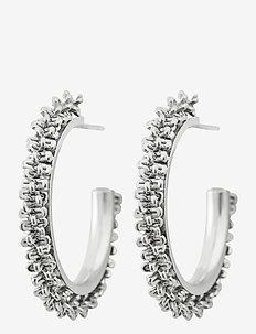 Tinsel Earrings Creole - korvarenkaat - steel