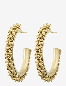 Tinsel Earrings Creole - creoler - gold