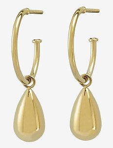 Drop Mini Earrings - hengende øreringer - gold