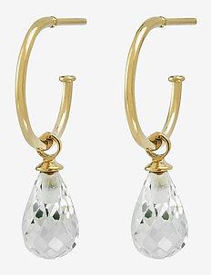 Drop Mini Earrings cz - korvarenkaat - gold