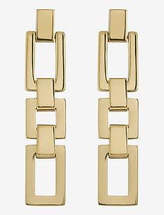 Deco Earrings - hengende øreringer - gold
