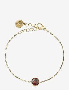 Diana Bracelet Plum - dainty - gold