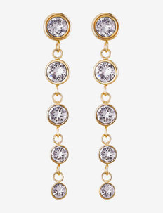 Dew Drop Earrings - oorhangers - gold