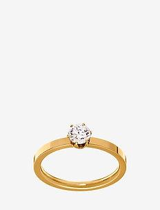 Crown Ring Gold - pierścionki - gold