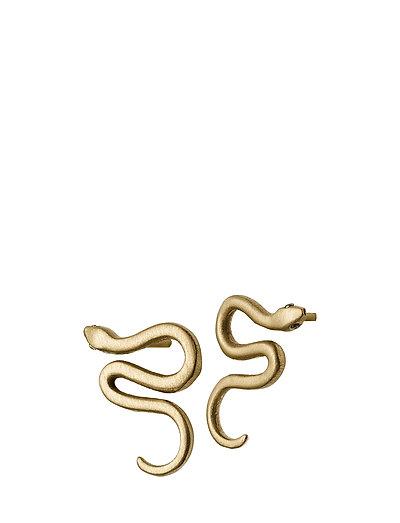 Snake Earrings Small Matt Gold - GOLD